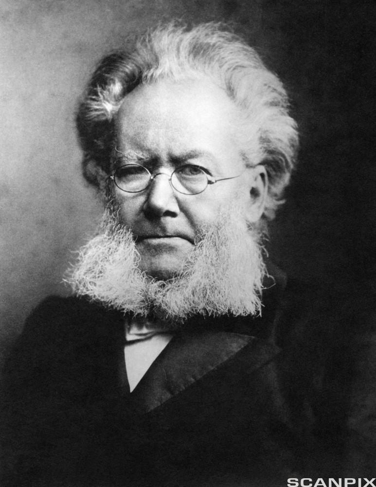 Portrett av forfatteren Henrik Ibsen