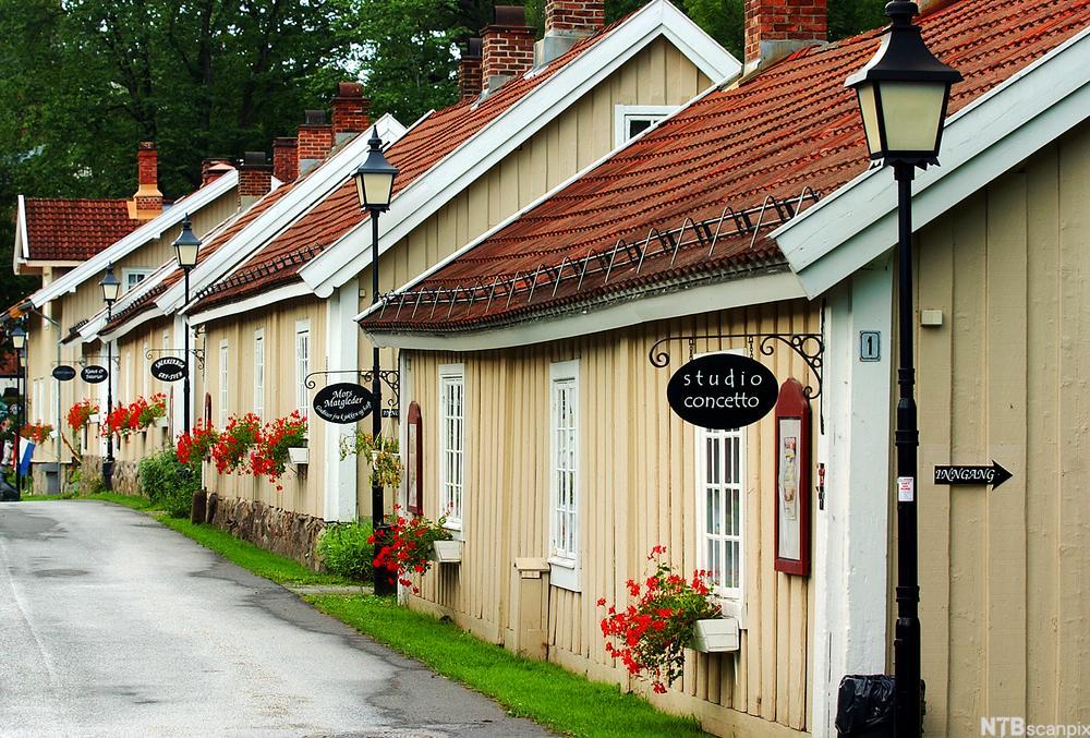 Bilde av handlegaten på Bærums Verk.