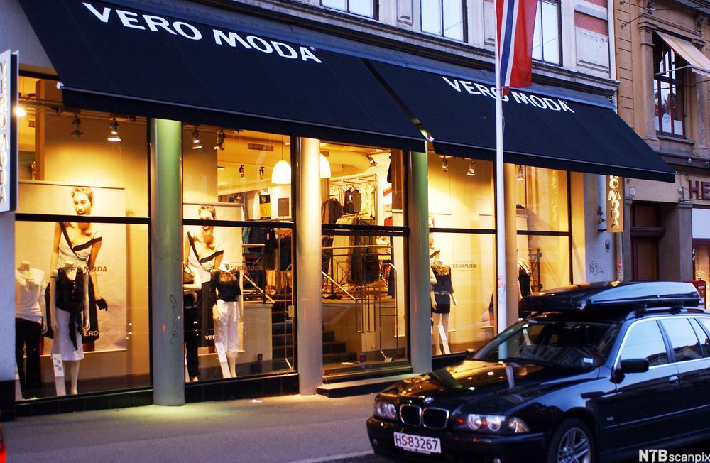 Klesbutikken VERO MODA. Foto.