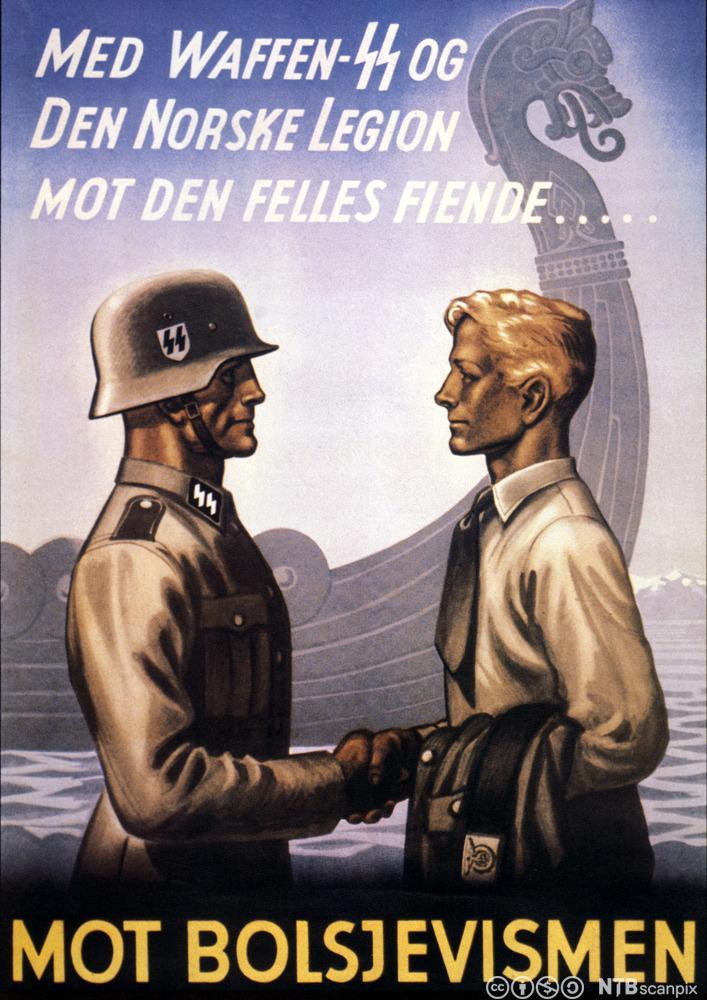 Propagandaplakat for Den norske legion