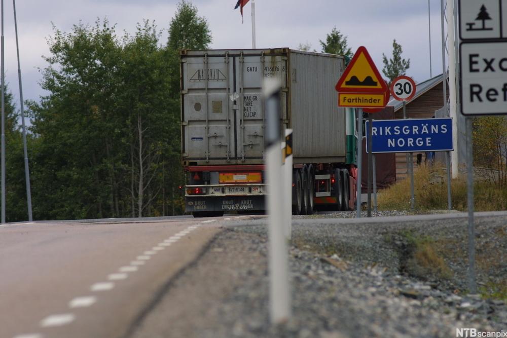 Landskilt til Norge. foto.