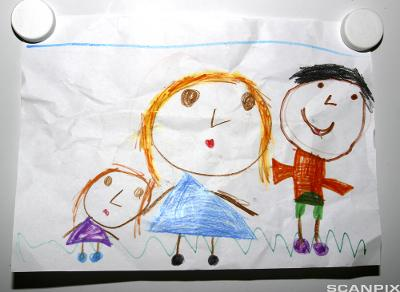Barnetegning.Foto