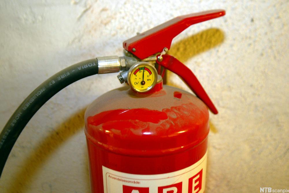 Manometer på brannslukkingsapparat. foto.
