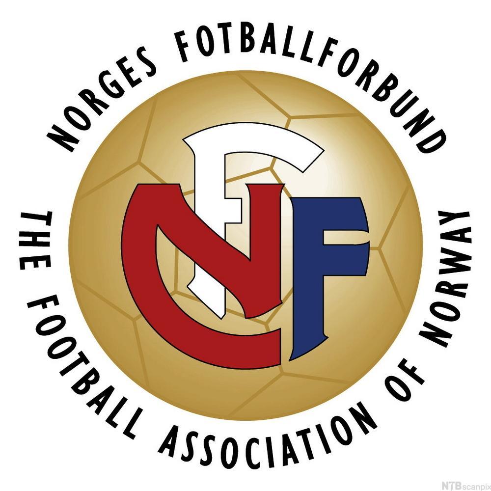 Norges Fotballforbunds logo. Illustrasjon.