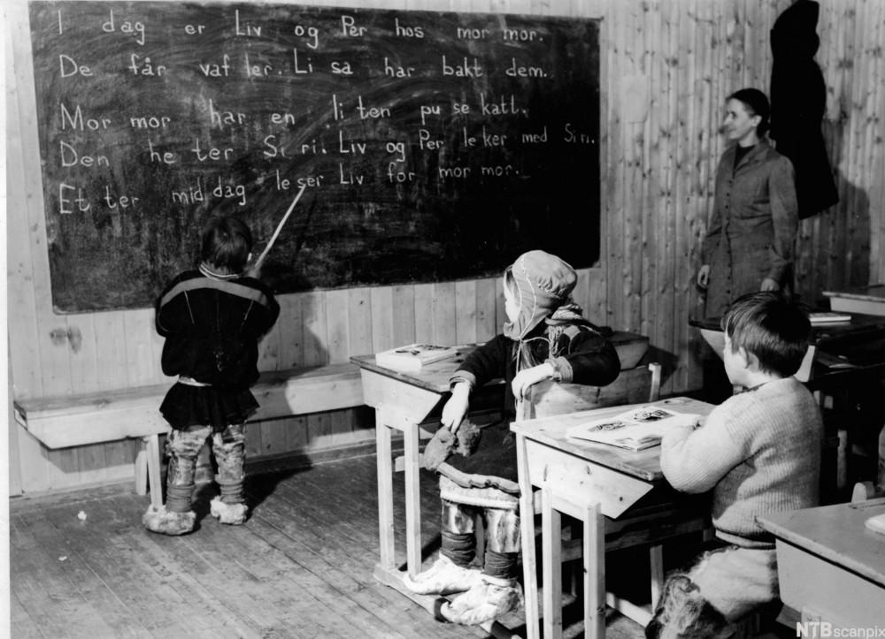 Internatskolen for Flyttsame-barn i 1950.