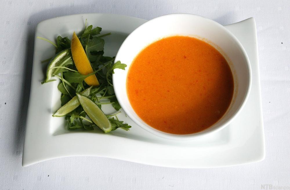 Meksikansk maissuppe. Foto.