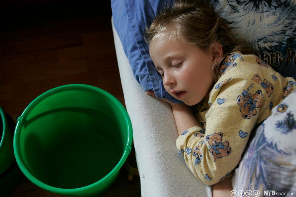 Barn med omgangssyke. Foto.
