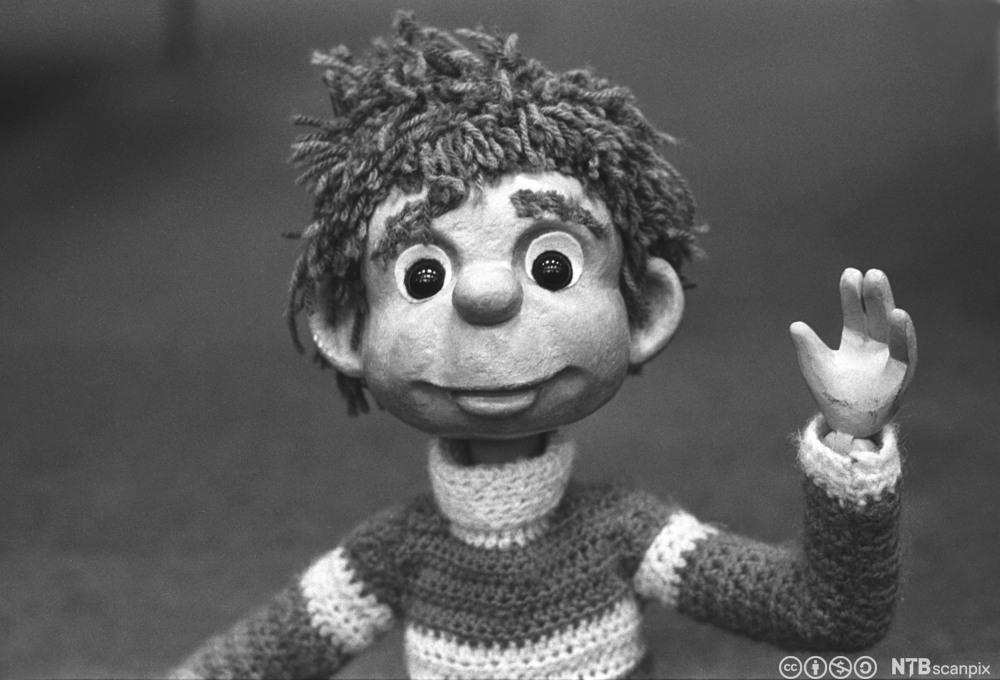 Nærbilde av figuren Titten Tei, kjent fra Barne-tv. Foto.