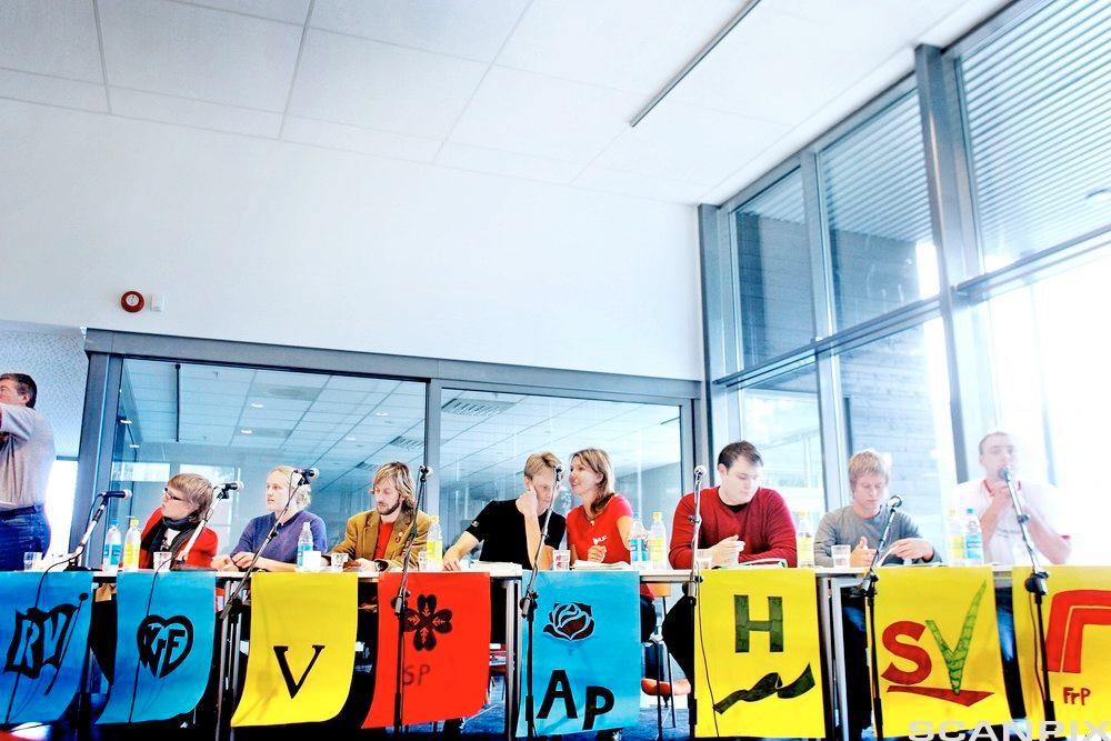 paneldebatt under skolevalg. Foto.