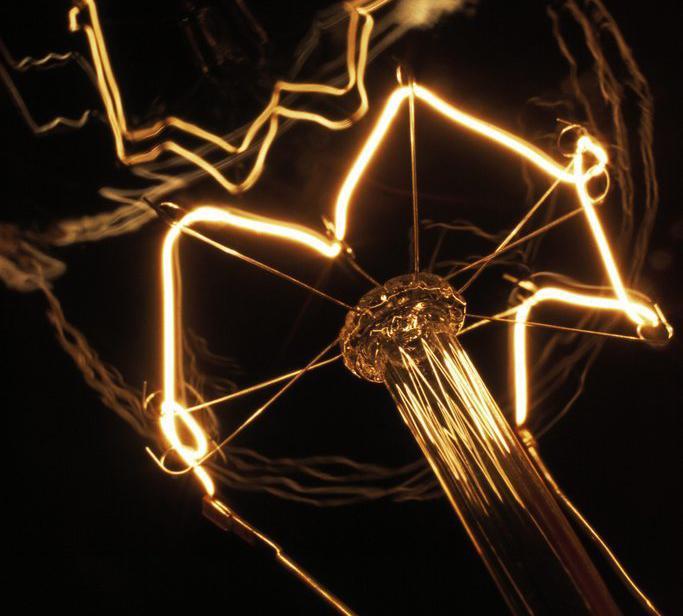 Glødelampe. Foto.