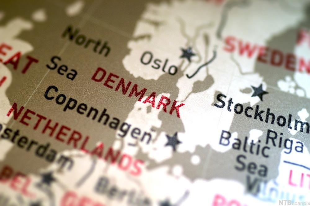 kart over Nord-Europa