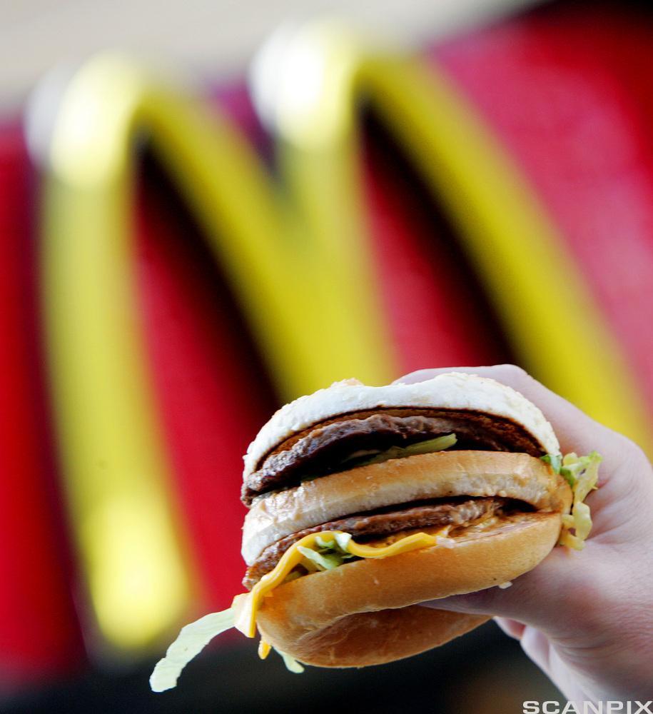 Bilde av en hamburger fra McDonald's.