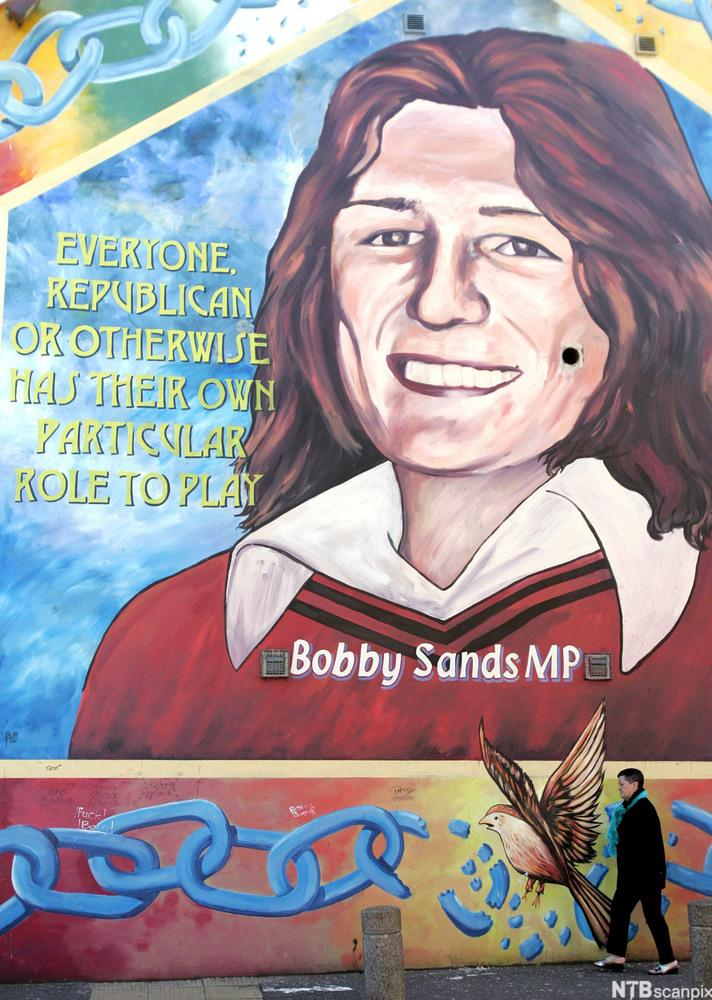 Wall mural in Belfast in memory of Bobby Sands