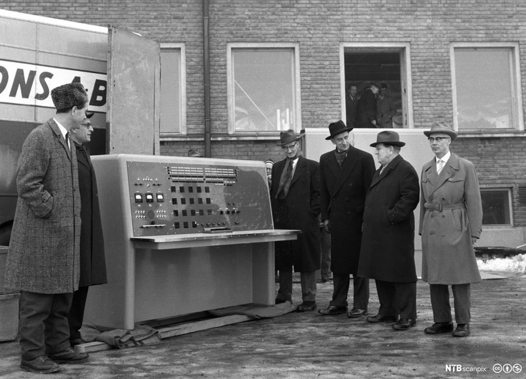 En av meteorologisk inststutts første datamaskiner. Foto.