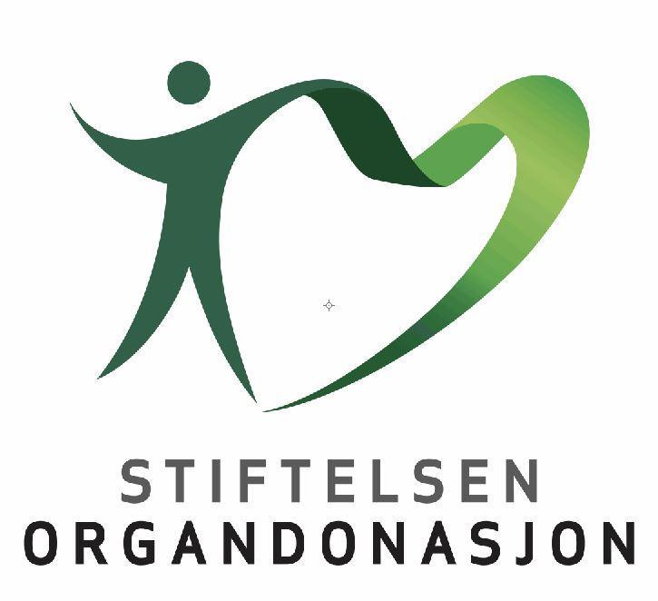 Logo med en grønn person med en forlenget arm. Grafikk.