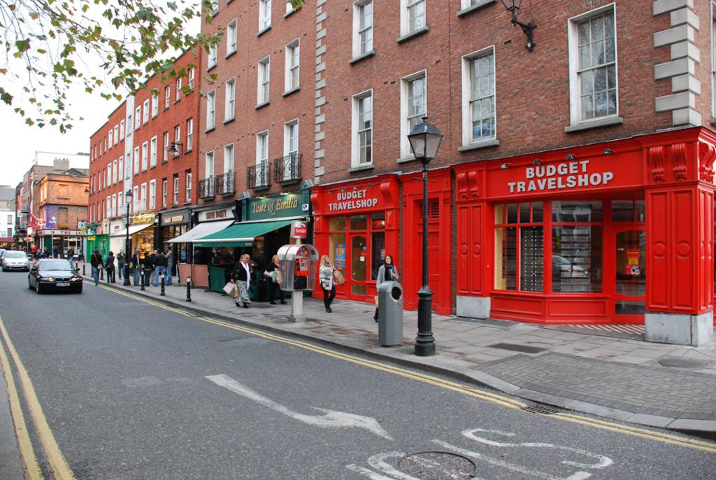 A street in downtown Dublin