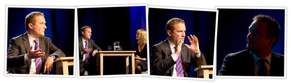 Simon Sutton på mediedagene i Bergen