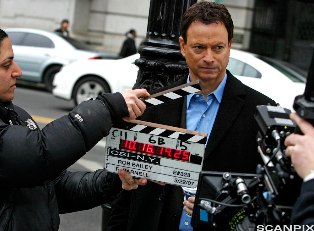 Gary Sinise filming CSI New York