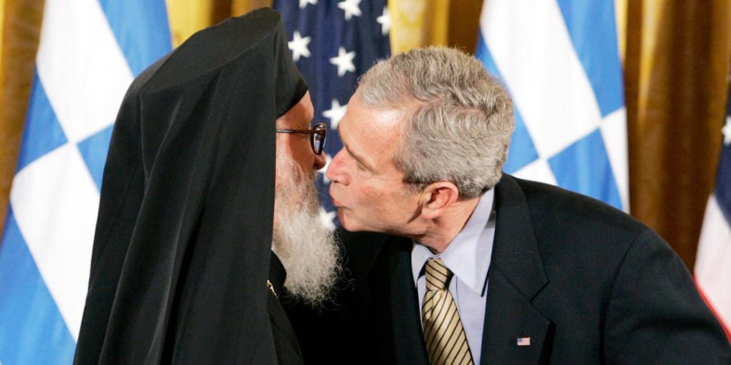 Ortodoks hilsemåte. Foto.