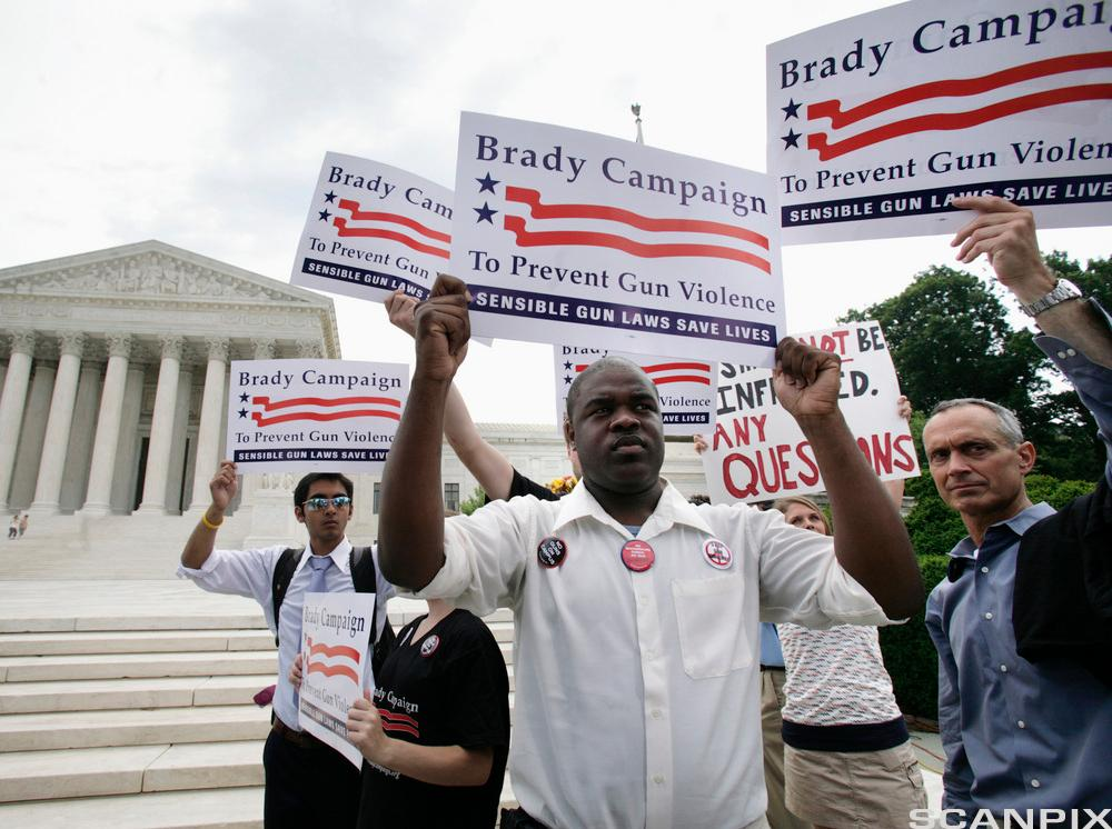 Activists with Brady Campaign for Gun Control