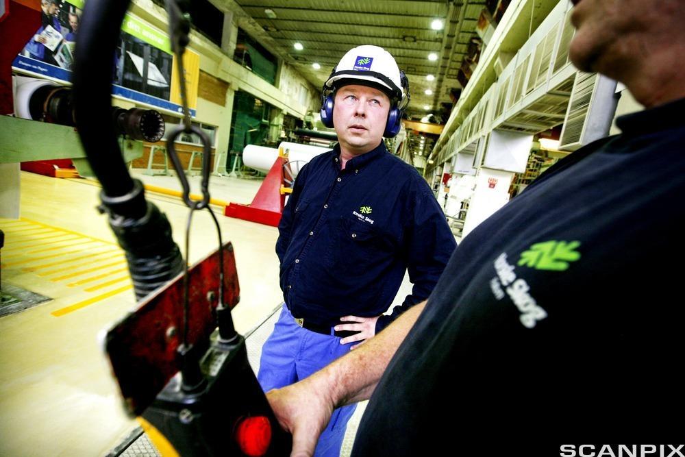 Hydrauliker i fabrikklokale.foto.