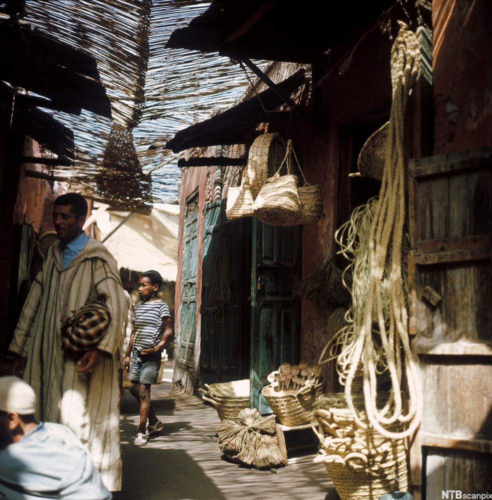 Market in Marrakech old town, Morocco