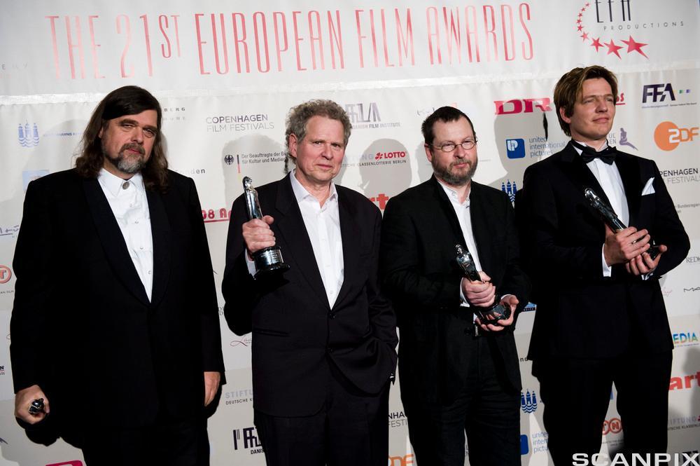Personene bak de danske dogmefilmene: (fra venstre) Kristian Levring, Søren Kragh-Jacobsen, Lars von Trier og Thomas Vinterberg