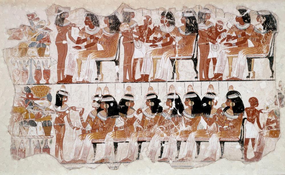 Veggmaleri fra graven til Nebamun.