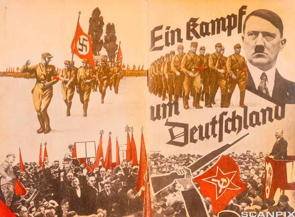 Adolf Hitler-plakat. Illustrasjon.