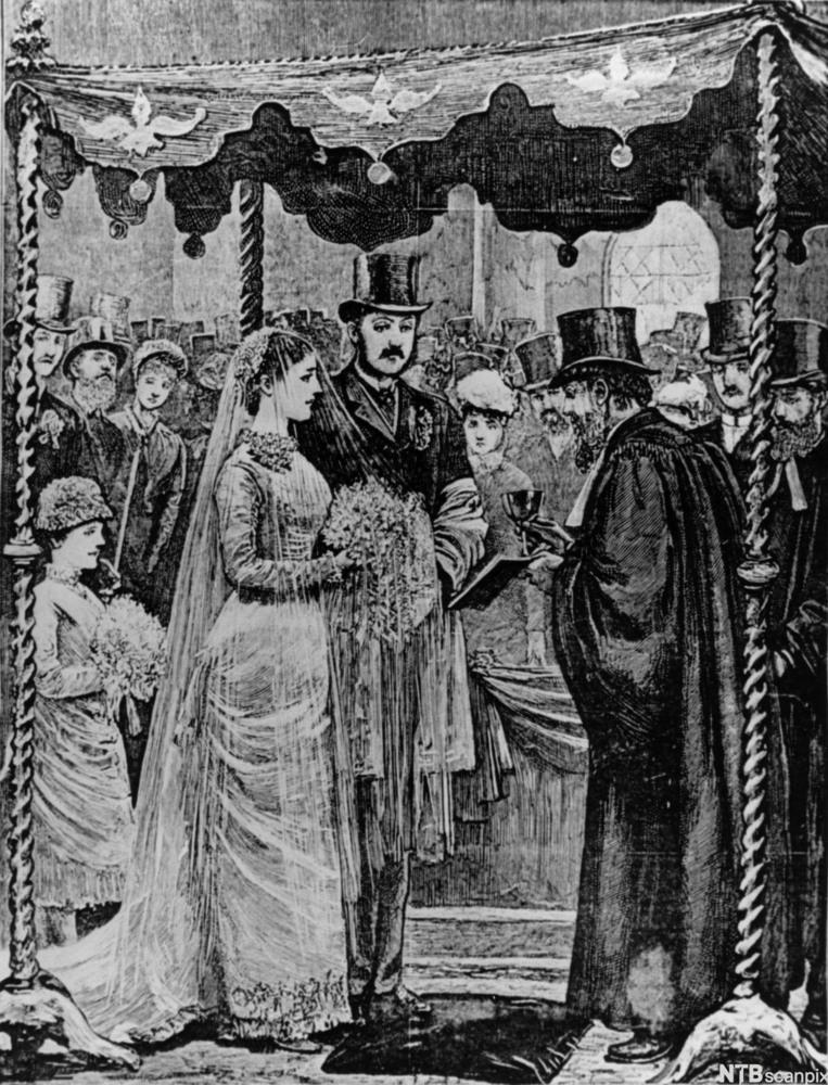 Bryllup i London i 1881.