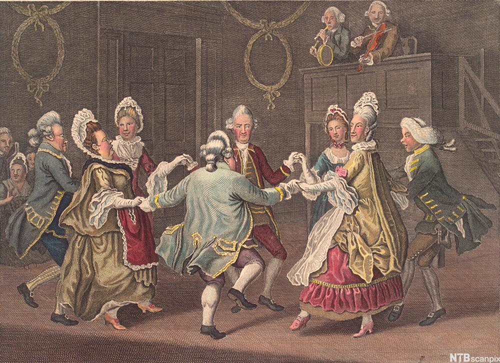 """The Cotillion Dance"" av James Caldwell. Fargetrykk."