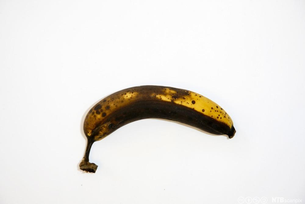 Overmoden banan. Foto.