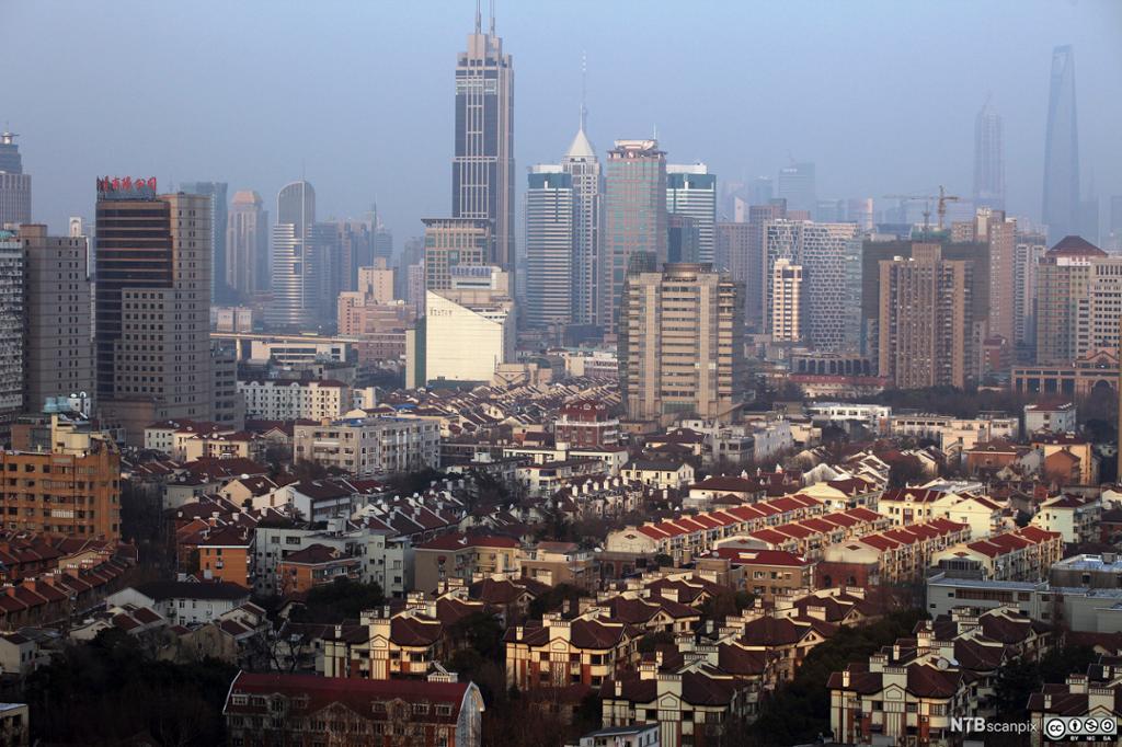 Det franske konsesjonsområdet i Shanghai. Foto.