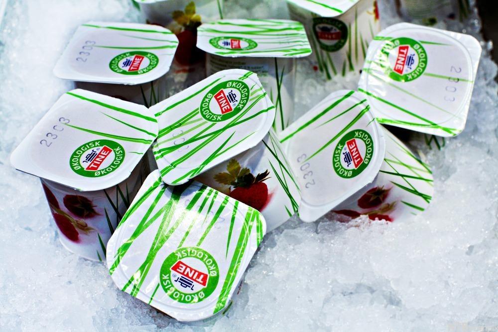 Bilete av økologisk yoghurt