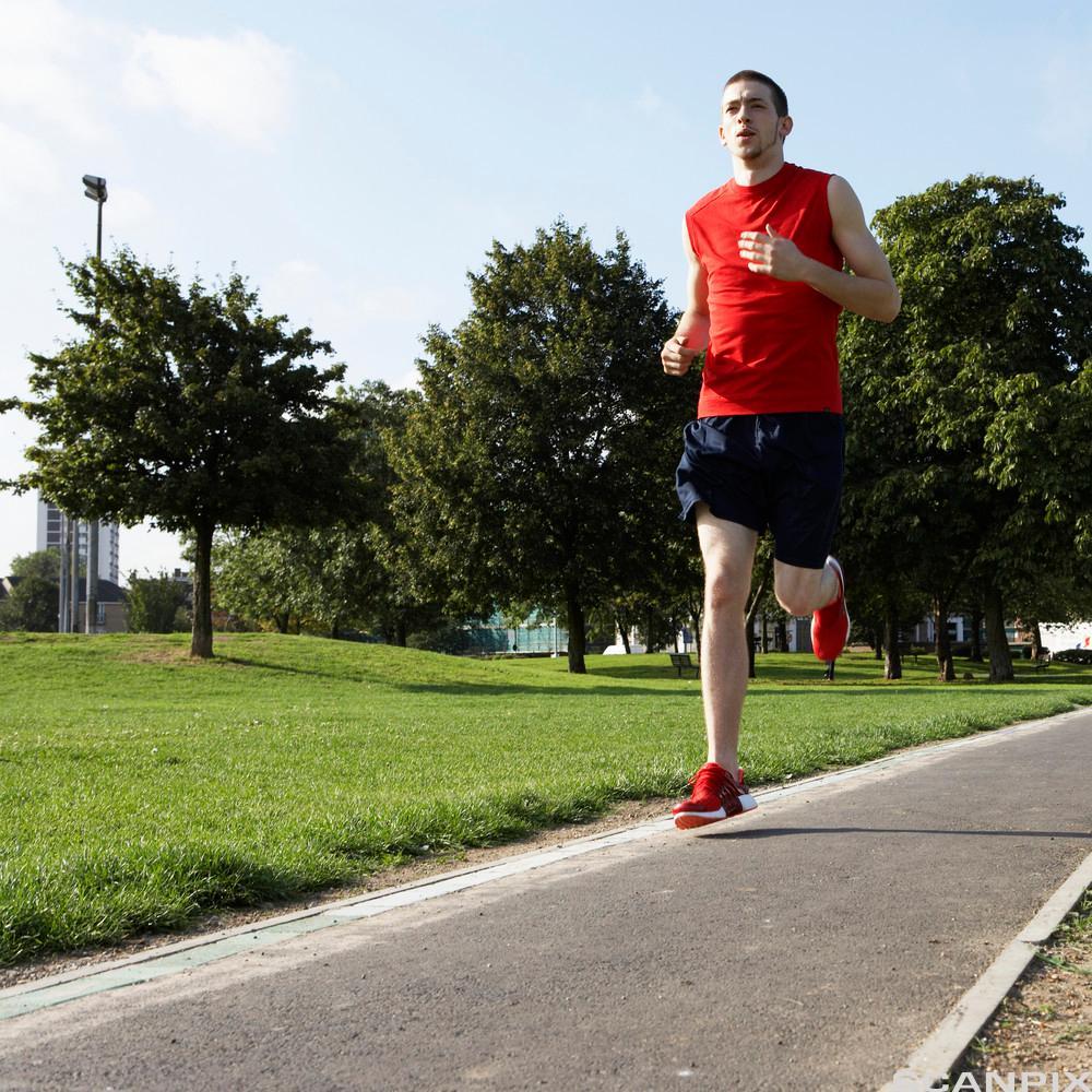 Person som jogger. Foto.