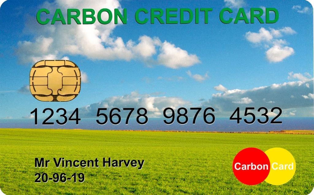 Kredittkort for klimakvoter. Foto.