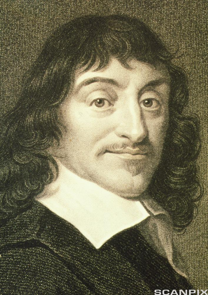Portrait of French mathematician Rene Descartes