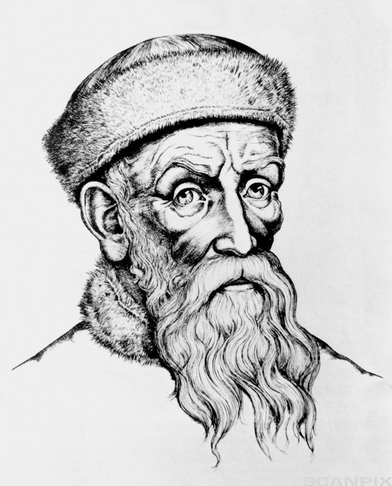 Johann Guenberg. Illustrasjon