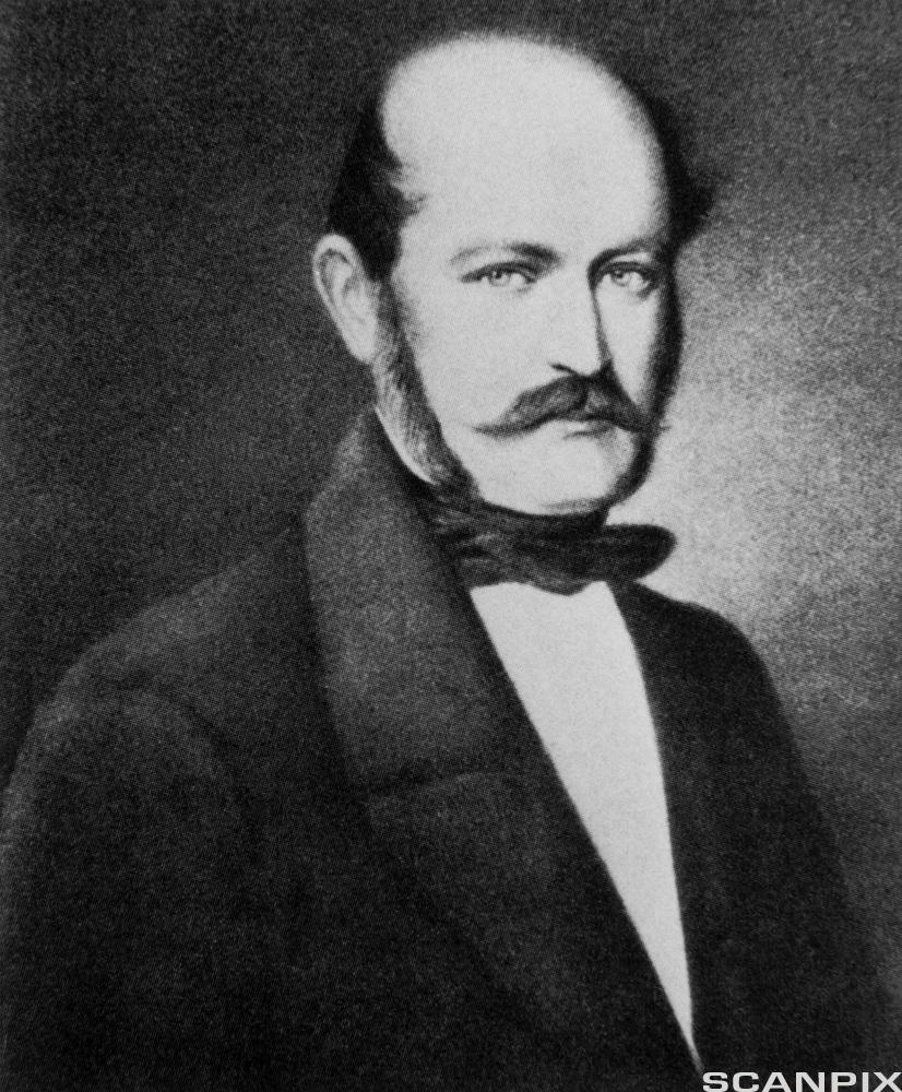 Portrett av Ignaz Semmelweis. Foto.