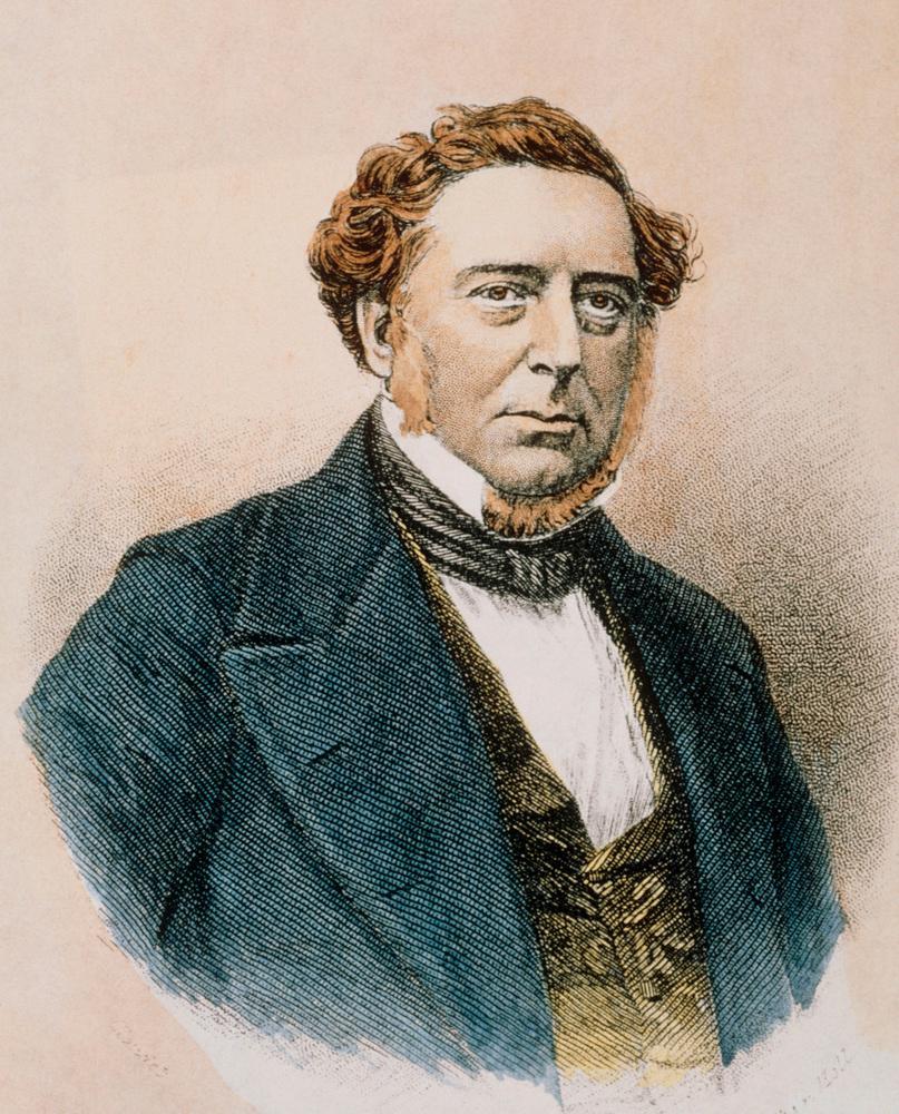 Portrett av Robert Stephenson.tegning.