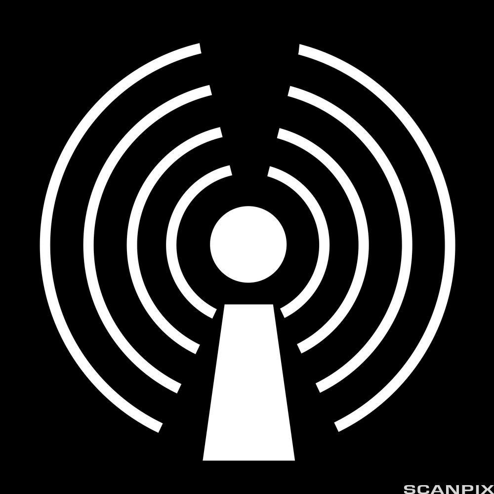 Trådløst internett symbol