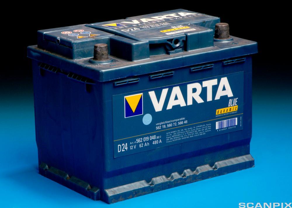 Bilde av bilbatteri