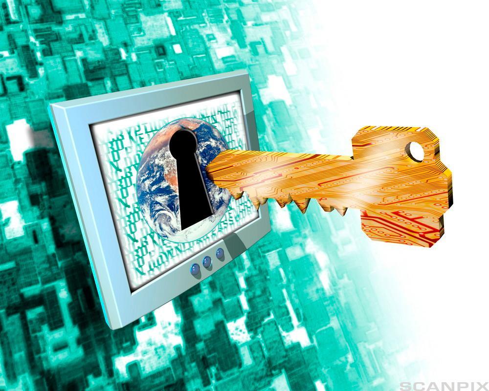 Illustrasjon for internettsikkerhet.