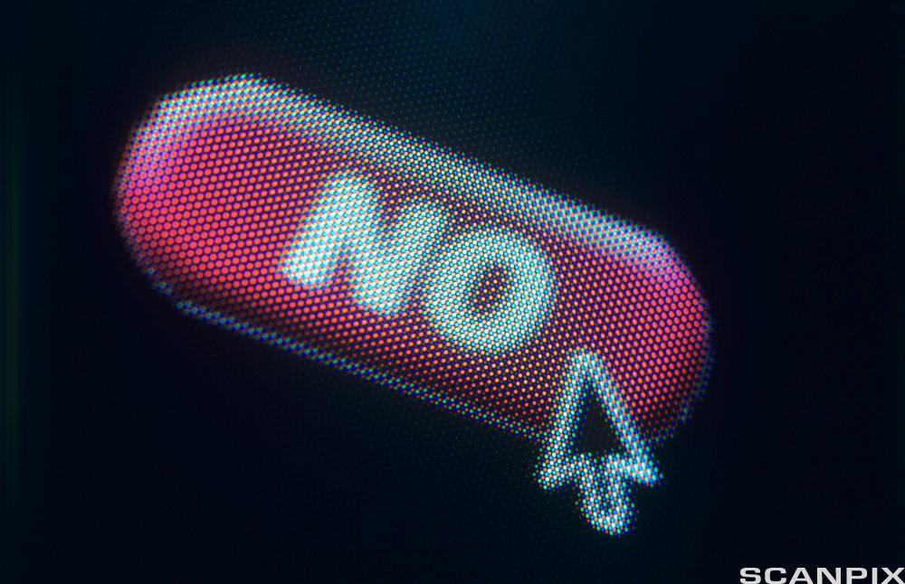 Bildet viser det engelseke ordet no