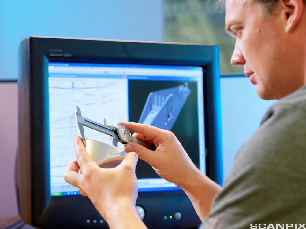 Dataverktøy for måling. Foto.
