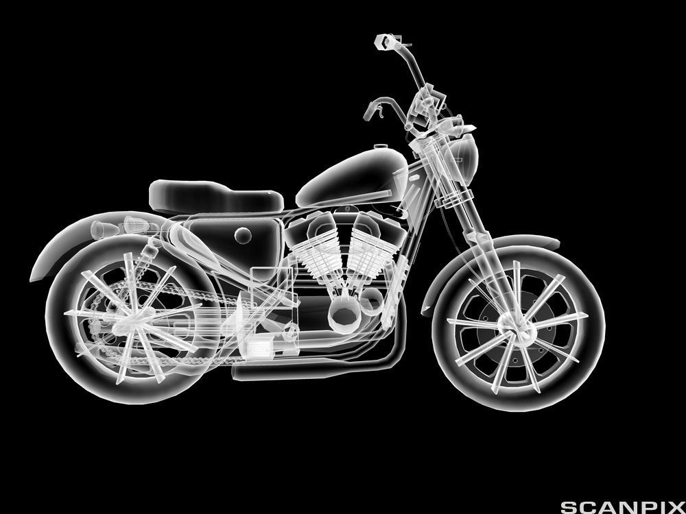 Modell av motorsykkel. Illustrasjon.