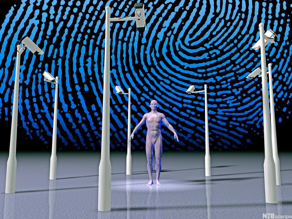 Biometrisk sikkerhet. Illustrasjon.