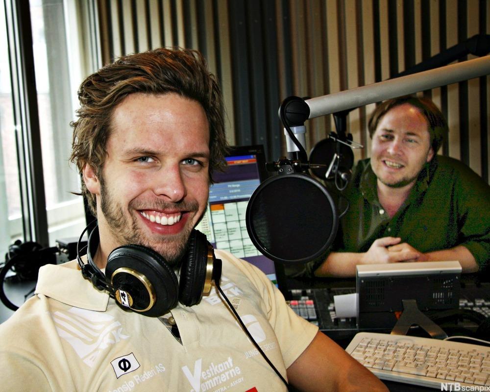 Alexander Dale Oen i radiostudio i P4
