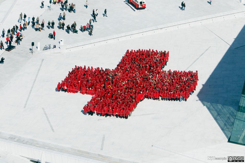 Norges Røde Kors på operataket i Oslo. Foto.