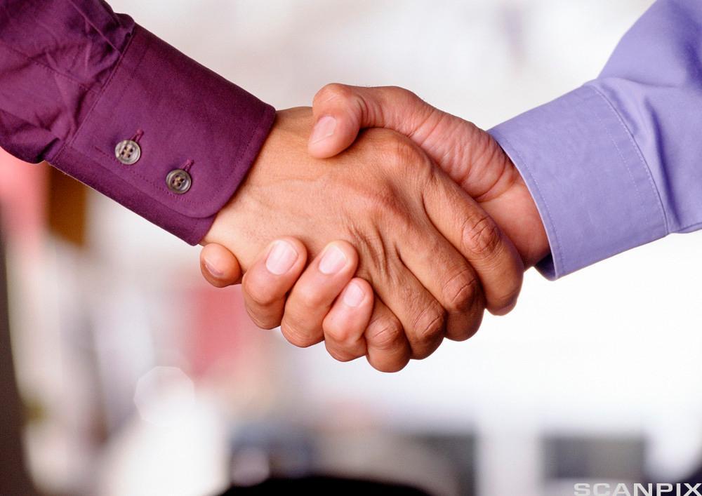 Håndhilsing. Foto.